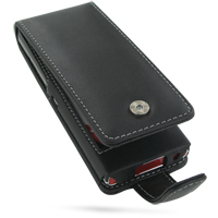 Leather Flip Case for LG BL40 New Chocolate (Black)