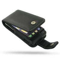 Leather Flip Case for LG GD510 POP (Black)