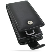 Leather Flip Case for LG GD550 (Black)