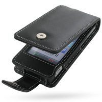 Leather Flip Case for LG GD880 Mini (Black)