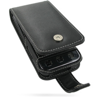Leather Flip Case for LG KC910 Renoir (Black)