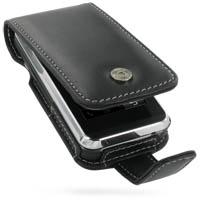 Leather Flip Case for LG KF690 KF700 (Black)