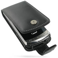 LG Secret KF750 Leather Flip Case (Black) PDair Premium Hadmade Genuine Leather Protective Case Sleeve Wallet