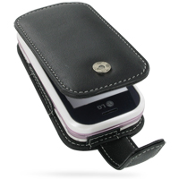 Leather Flip Case for LG KS360 (Black)
