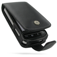 Leather Flip Case for LG KS660 (Black)