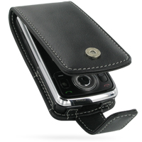 Leather Flip Case for LG KT520 (Black)