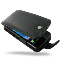 Leather Flip Case for LG Nitro HD P930 (Black)
