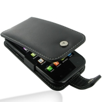 LG Optimus SOL Leather Flip Case PDair Premium Hadmade Genuine Leather Protective Case Sleeve Wallet