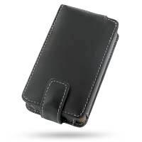 Microsoft Zune Leather Flip Case (Black) PDair Premium Hadmade Genuine Leather Protective Case Sleeve Wallet