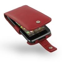Motorola Atrix HD Leather Flip Case (Red) PDair Premium Hadmade Genuine Leather Protective Case Sleeve Wallet