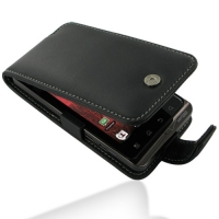 Motorola Droid Bionic Leather Flip Case (Black) PDair Premium Hadmade Genuine Leather Protective Case Sleeve Wallet