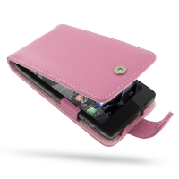 Leather Flip Case for Motorola Droid Razr Maxx HD (Petal Pink)