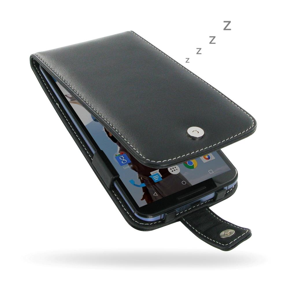 cheap for discount e1b4e 43099 Leather Flip Case for Motorola Google Nexus 6 XT1103