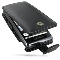 Leather Flip Case for Motorola Milestone 2 A953/DROID 2 A955 (Black)