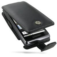 Motorola Milestone 2 / DROID 2 Leather Flip Case (Black) PDair Premium Hadmade Genuine Leather Protective Case Sleeve Wallet