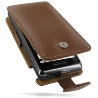 Leather Flip Case for Motorola Milestone 2 A953/DROID 2 A955 (Brown)