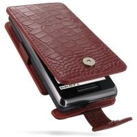 Motorola Milestone 2 / DROID 2 Leather Flip Case (Red Croc Pattern) PDair Premium Hadmade Genuine Leather Protective Case Sleeve Wallet
