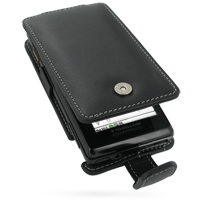 Leather Flip Case for Motorola Milestone A855 (Black)