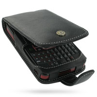 Motorola Q9m Q9c Leather Flip Case (Black) PDair Premium Hadmade Genuine Leather Protective Case Sleeve Wallet