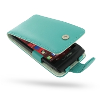 Leather Flip Case for Motorola Razr i XT890 (Aqua)