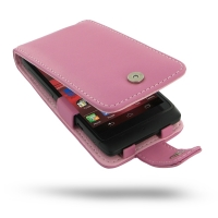 Leather Flip Case for Motorola Razr i XT890 (Petal Pink)