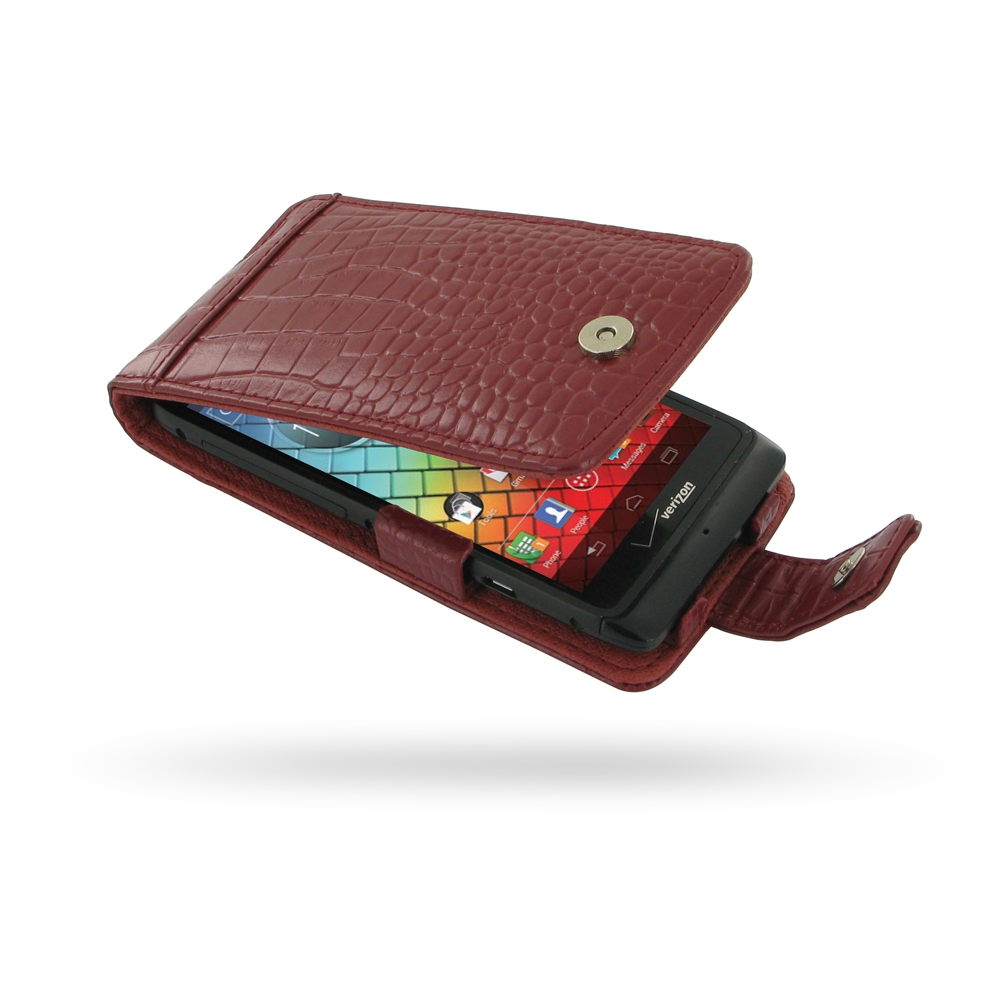 10% OFF + FREE SHIPPING, Buy Best PDair Top Quality Handmade Protective Motorola Razr i Leather Flip Case (Red Croc Pattern). Pouch Sleeve Holster Wallet You also can go to the customizer to create your own stylish leather case if looking for additional c