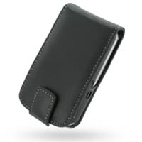 Leather Flip Case for MWg Atom Life (Black)