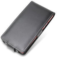 NEC MEDIAS LTE N-04D Leather Flip Case (Black) PDair Premium Hadmade Genuine Leather Protective Case Sleeve Wallet