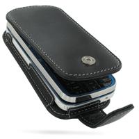Nokia 5730 XpressMusic Leather Flip Case (Black) PDair Premium Hadmade Genuine Leather Protective Case Sleeve Wallet