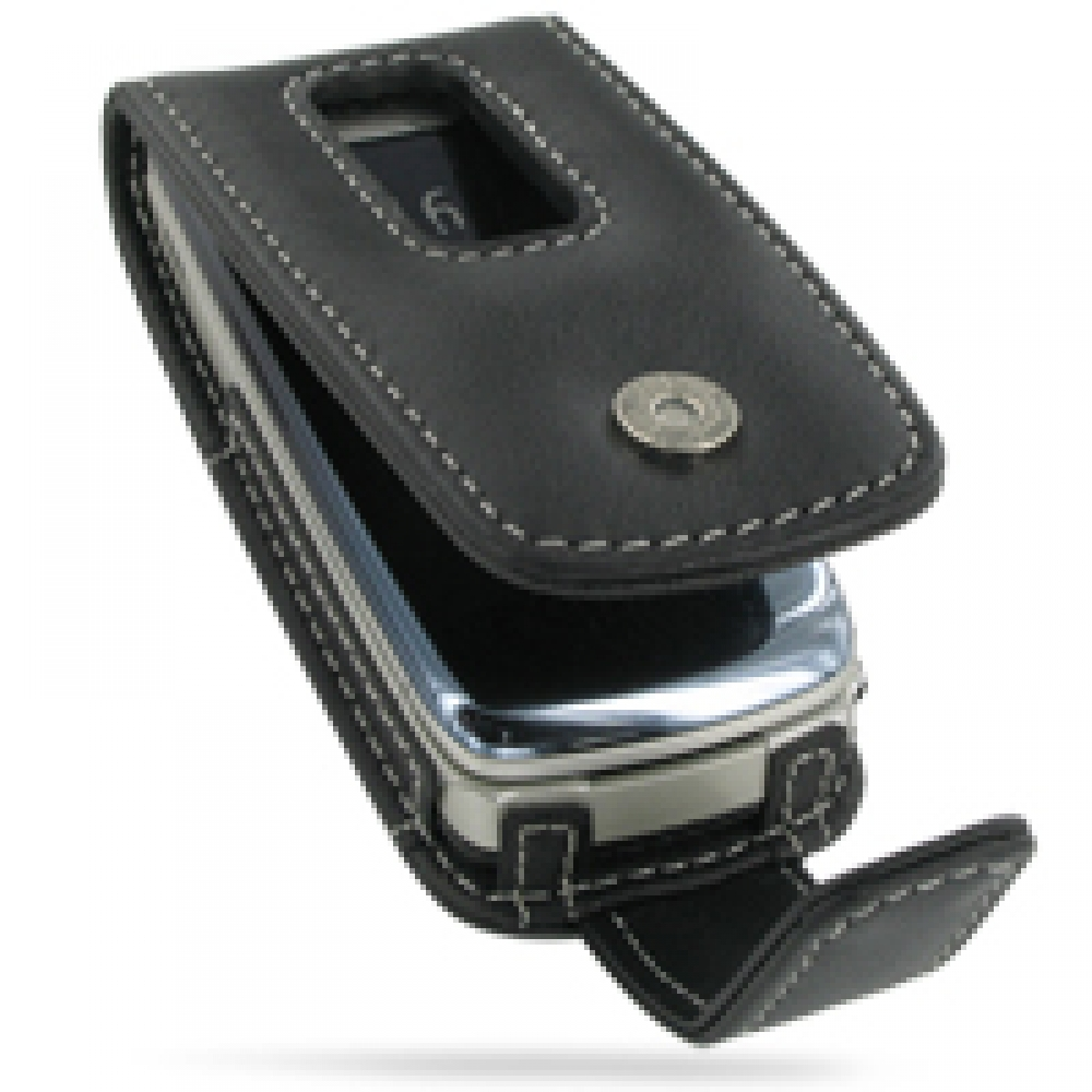 Leather Flip Case for Nokia 6600 Fold (Black)