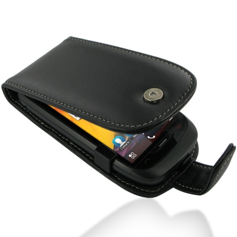 online retailer df3a8 7cd84 Leather Flip Case for Nokia 701 (Black)