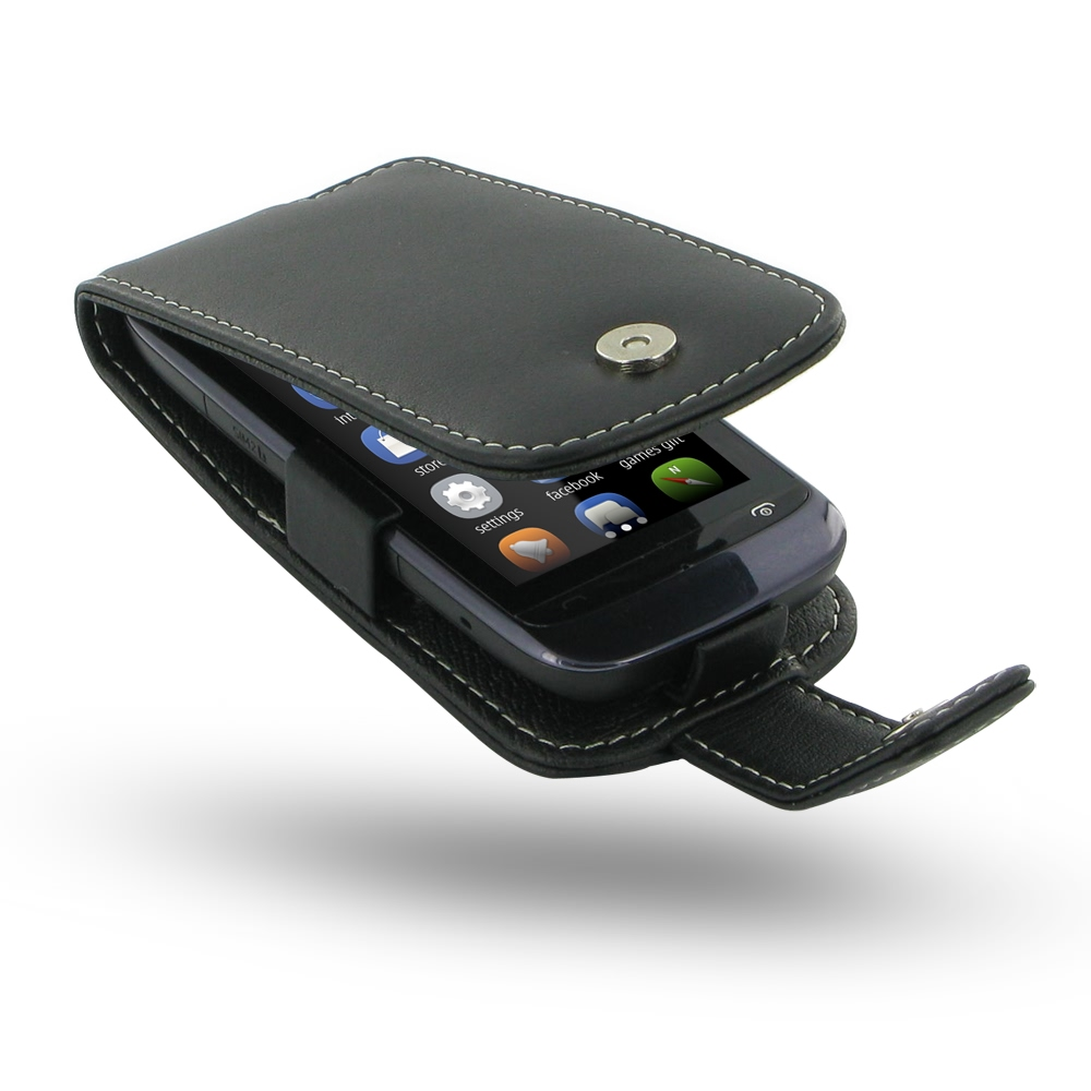brand new ce4a3 96d3a Nokia Asha 308 Leather Flip Case Cover :: PDair Sleeve Pouch Wallet
