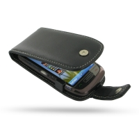 Leather Flip Case for Nokia C7 (Black)