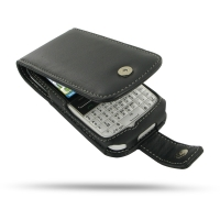 Nokia E5 Leather Flip Case (Black) PDair Premium Hadmade Genuine Leather Protective Case Sleeve Wallet
