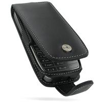 Nokia E52 Leather Flip Case (Black) PDair Premium Hadmade Genuine Leather Protective Case Sleeve Wallet