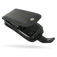 Nokia E72 Leather Flip Case (Black) PDair Premium Hadmade Genuine Leather Protective Case Sleeve Wallet