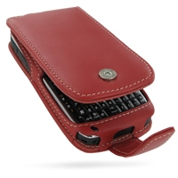 Nokia E72 Leather Flip Case (Red) PDair Premium Hadmade Genuine Leather Protective Case Sleeve Wallet