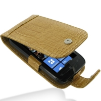 10% OFF + FREE SHIPPING, Buy PDair Top Quality Handmade Protective Nokia Lumia 710 Leather Flip Case (Brown Croc Pattern) online. Pouch Sleeve Holster Wallet You also can go to the customizer to create your own stylish leather case if looking for addition