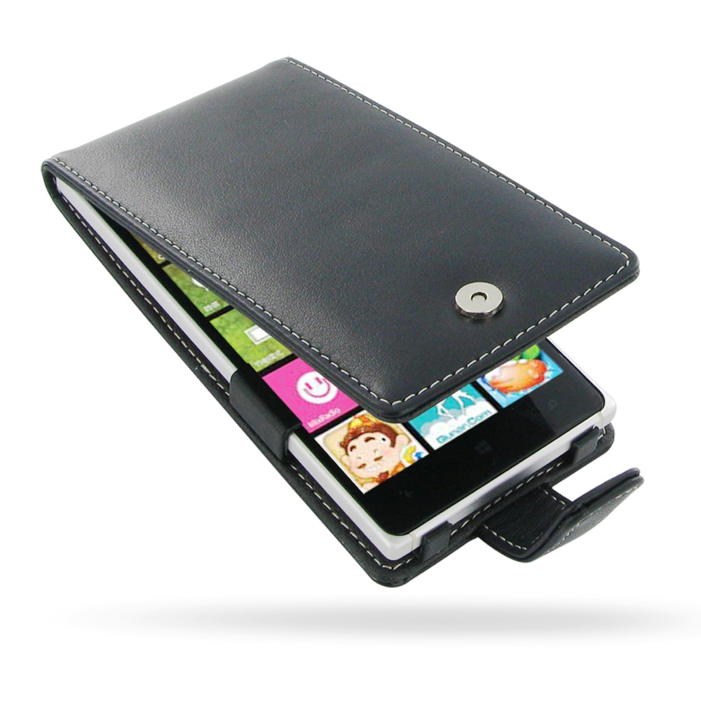 detailed look 8dde9 3174a Leather Flip Case for Nokia Lumia 830
