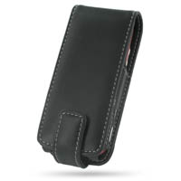 Nokia N73 Leather Flip Case (Black) PDair Premium Hadmade Genuine Leather Protective Case Sleeve Wallet
