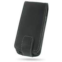 Nokia N77 Leather Flip Case (Black) PDair Premium Hadmade Genuine Leather Protective Case Sleeve Wallet