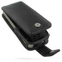 Leather Flip Case for Nokia N78 (Black)