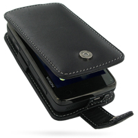 Leather Flip Case for Nokia N900 (Black)