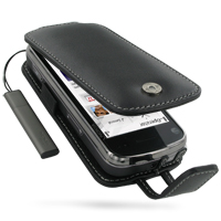 Leather Flip Case for Nokia N97 (Black)