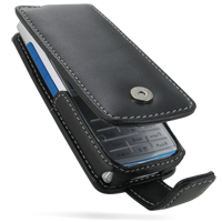 Nokia X2 Leather Flip Case (Black) PDair Premium Hadmade Genuine Leather Protective Case Sleeve Wallet