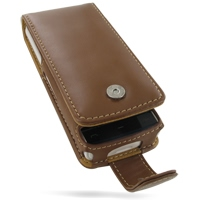 Leather Flip Case for Nokia X6 (Brown)