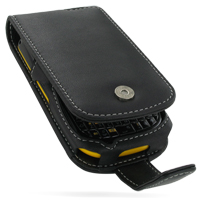 Leather Flip Case for Samsung B3210 CorbyTXT (Black)