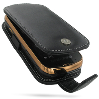 Leather Flip Case for Samsung B7620 Giorgio Armani (Black)