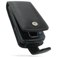 Leather Flip Case for Samsung C6112 (Black)