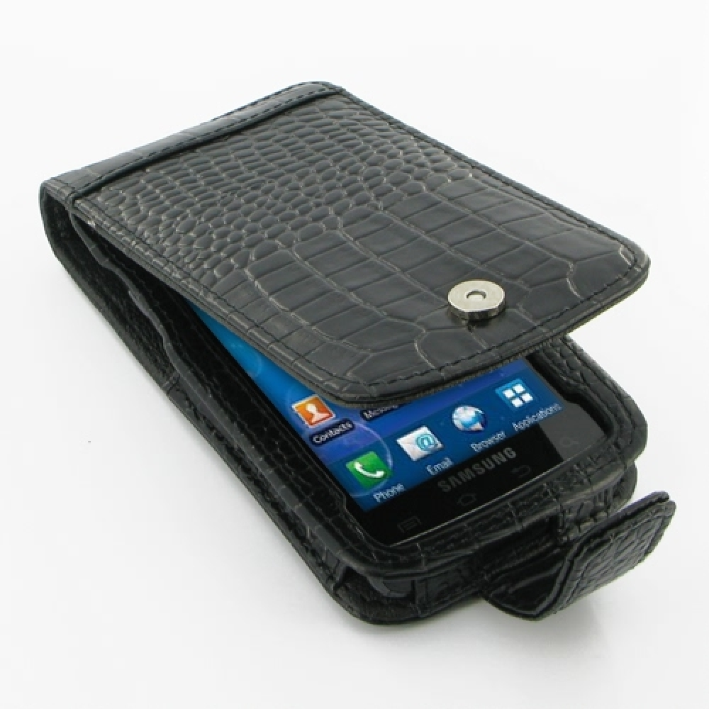 10% OFF + FREE SHIPPING, Buy PDair Quality Handmade Protective Samsung Captivate Galaxy S Leather Flip Case (Black Croc Pattern) online. You also can go to the customizer to create your own stylish leather case if looking for additional colors, patterns a